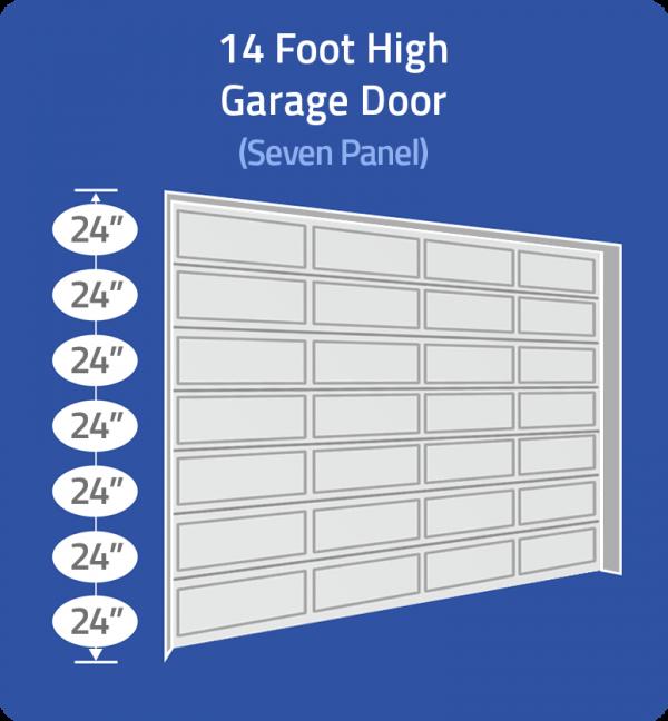 14 ft high door