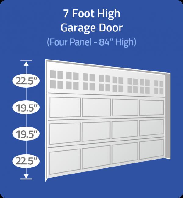 7 foot door with unequal panels