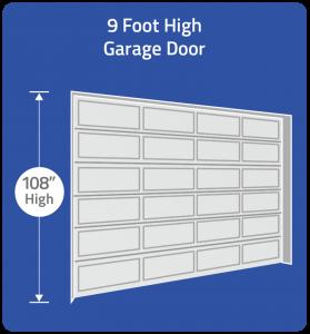 Choose 9 foot high door